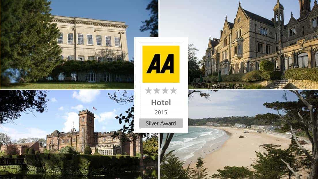 hand picked hotels awarded prestigious new aa silver star awards - Silver Hotel 2015