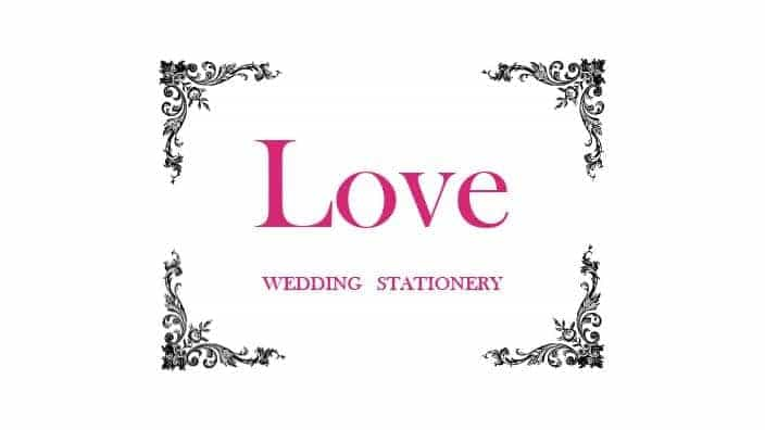 Love Wedding Stationery