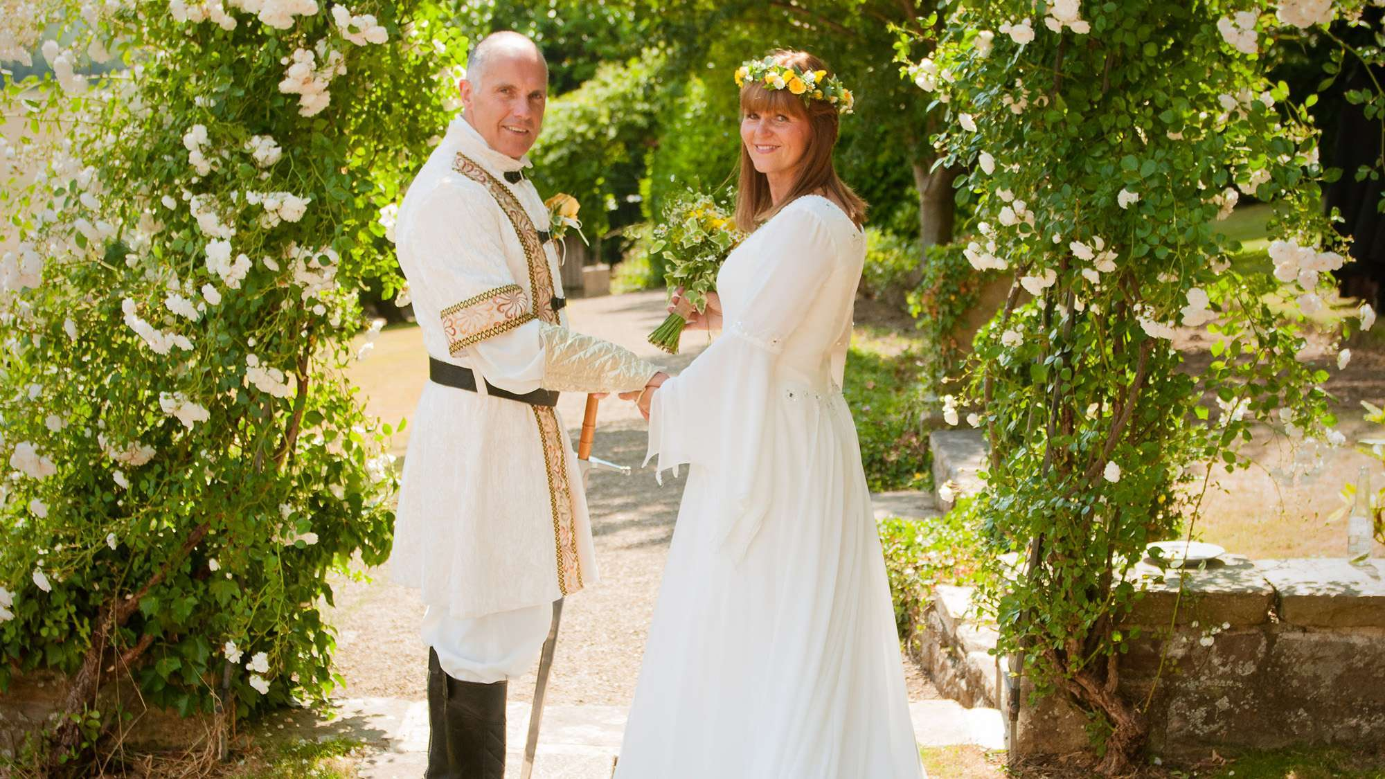 Medieval themed wedding   real wedding   Wood Hall Hotel ...